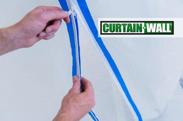 Curtain-Wall stofdeur - stofwand - rits - deur - opening
