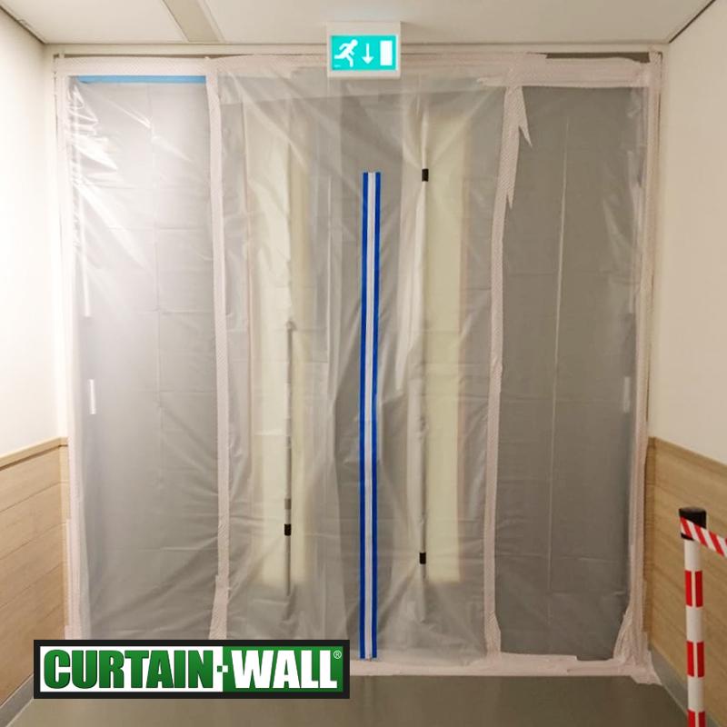 Curtain-Wall_Corona_wandsysteem_afschermen_ziekenhuizen